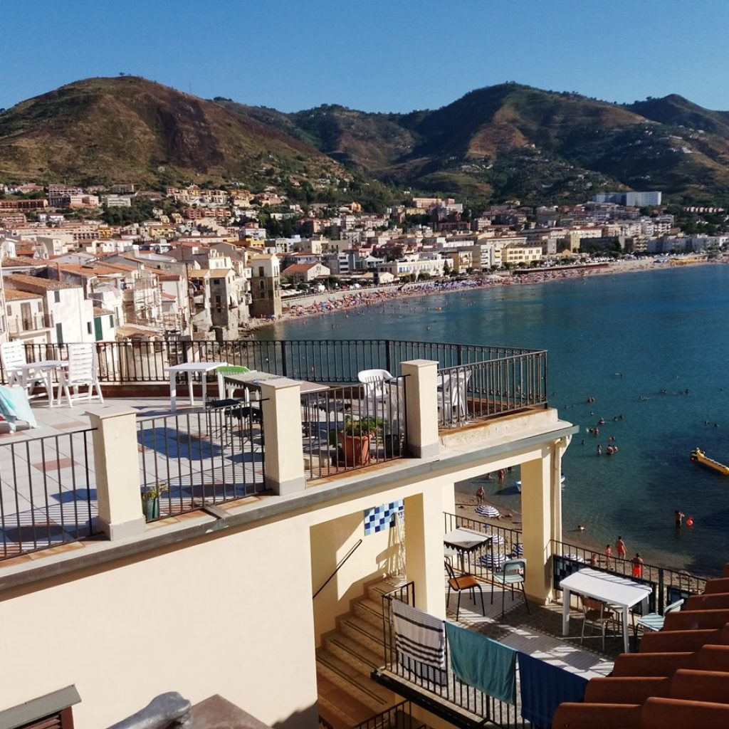 The terraces of the Convent have the most beautiful view of Cefalù