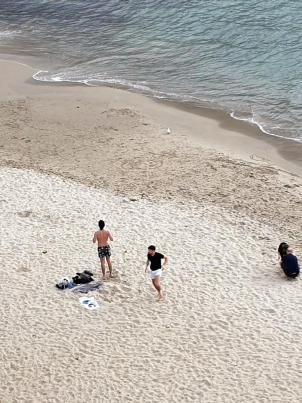 La spiaggia della Marina vista hotel convento di Cefalù