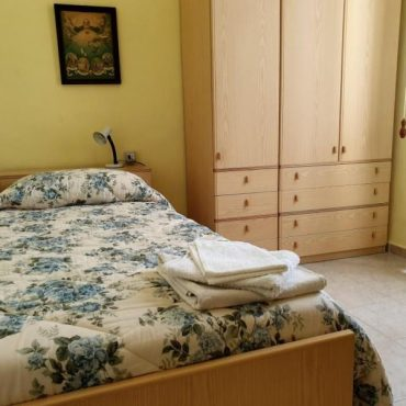 Detail of the single room of the Convent of Cefalù. Hotel on the beach and on the sea in Cefalù in the historic center